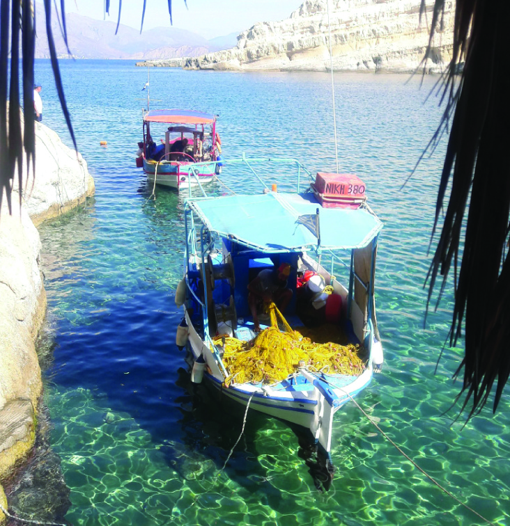Matala fisher boat