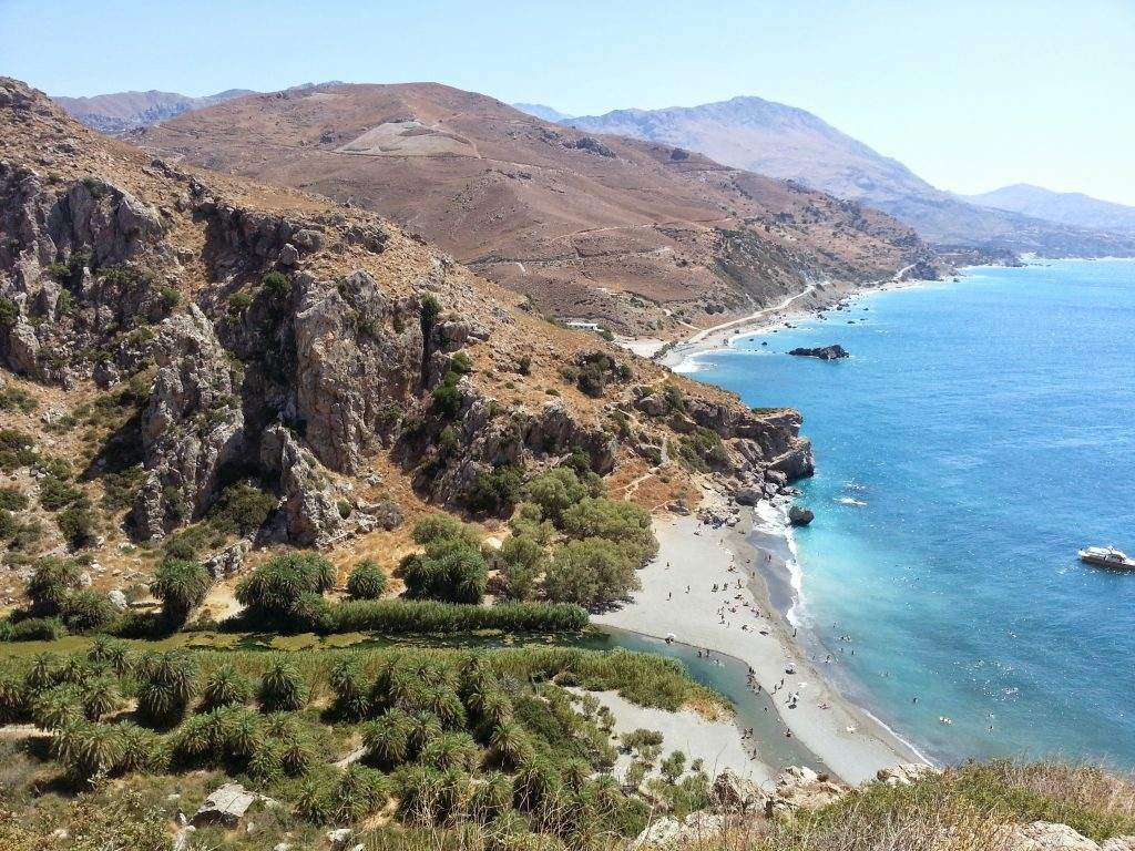 Preveli palm tree beach, Crete